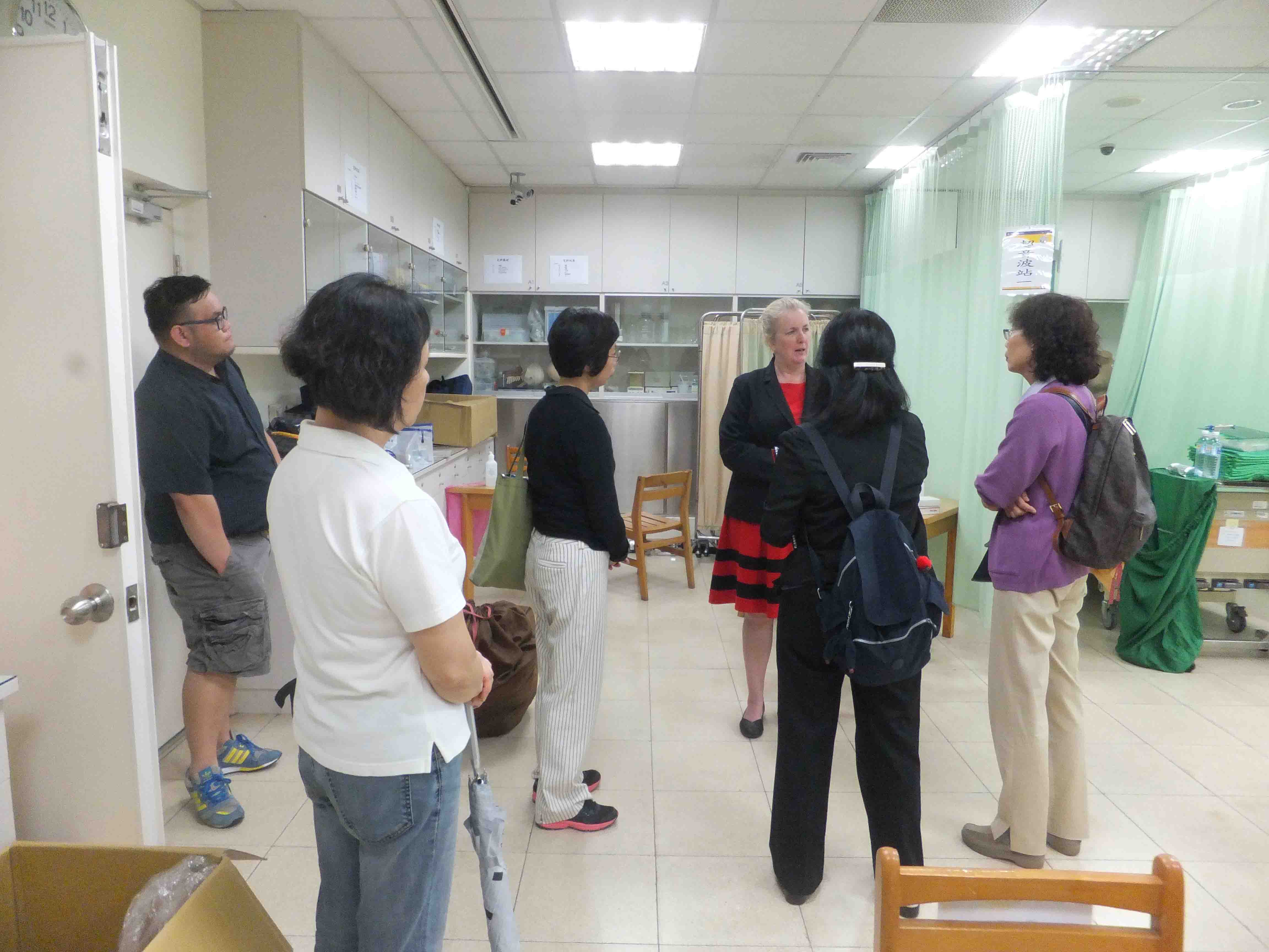 Ms.Susan Eller visit the nursing skills laboratory