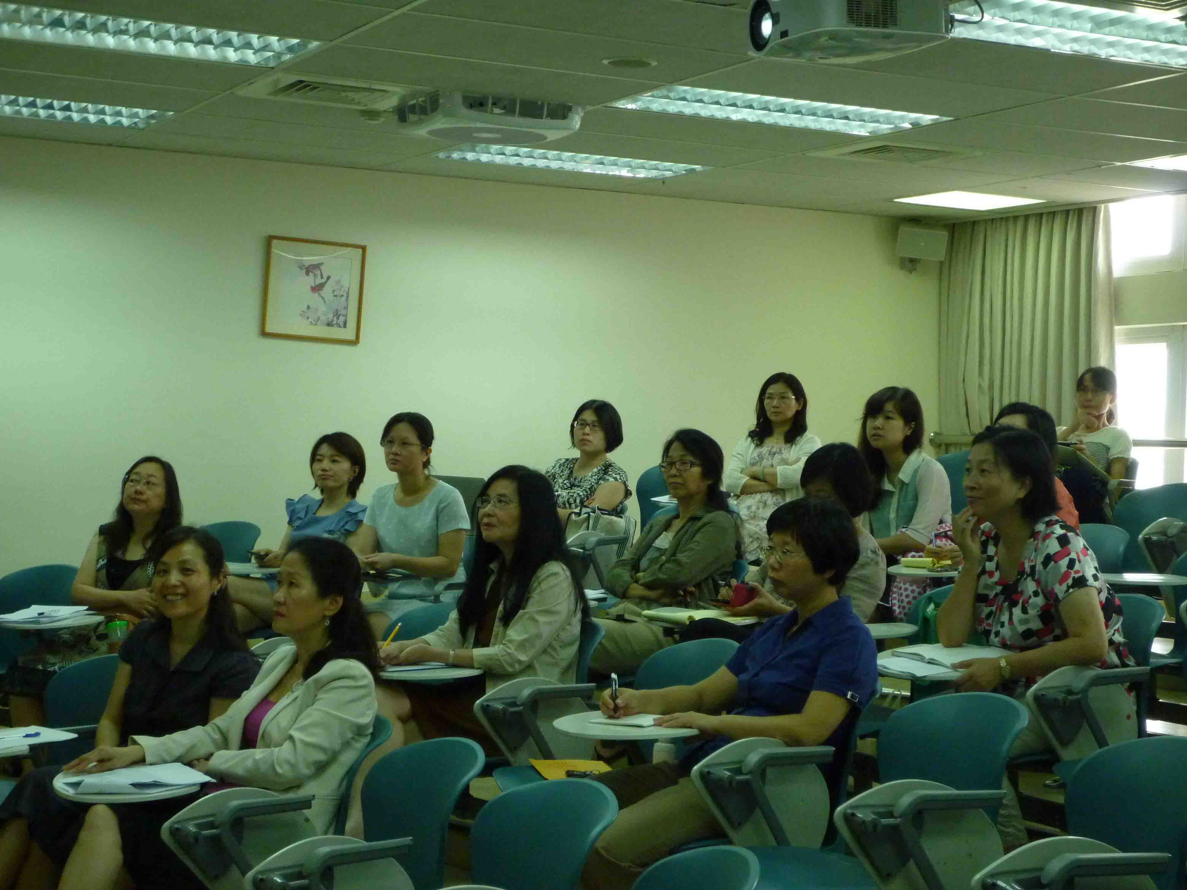 School of Nursing teachers listening